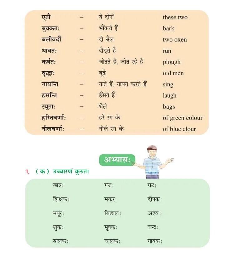 NCERT Solutions For Class 6 Sanskrit Chapter 1 शबदपरिचय:-।