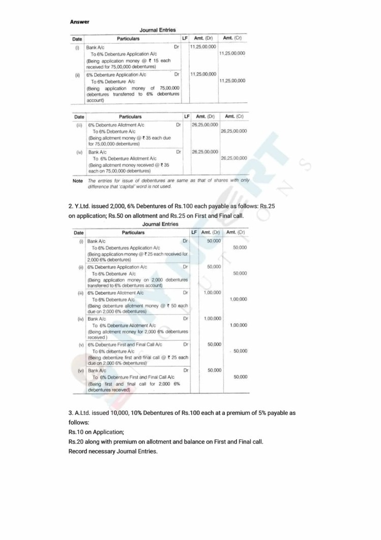 ncert solutions class 12 accountancy part 2 chapter 2 issue and redemption of debentures 29