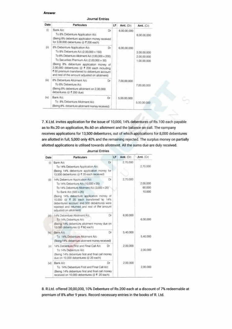 ncert solutions class 12 accountancy part 2 chapter 2 issue and redemption of debentures 32