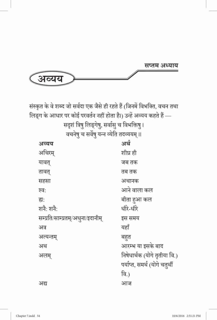 ncert-solutions-class-9-sanskrit-vyakaranavithi-chapter-7-awyaya-1