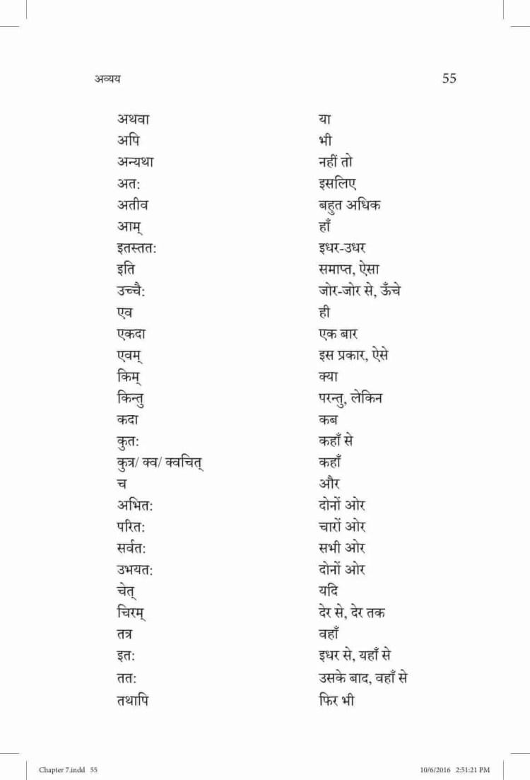 ncert-solutions-class-9-sanskrit-vyakaranavithi-chapter-7-awyaya-2