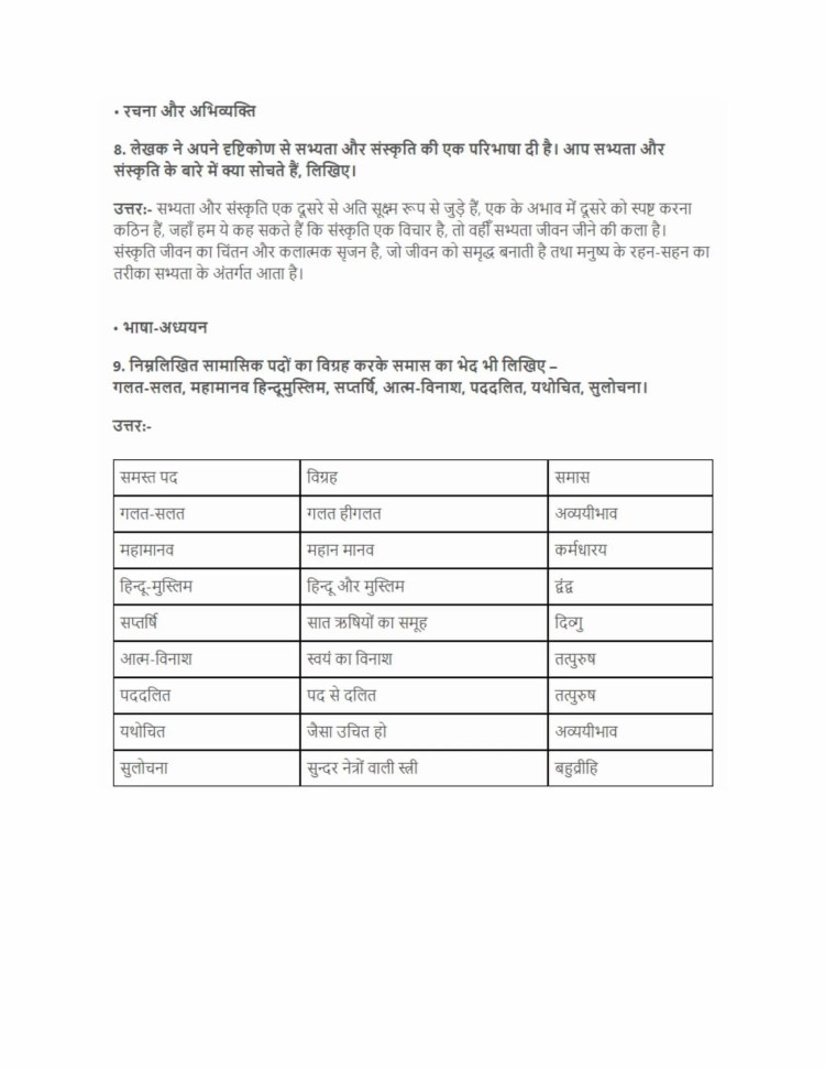 ncert solutions class 10 hindi kshitij 2 chapter 17 sanskriti 3