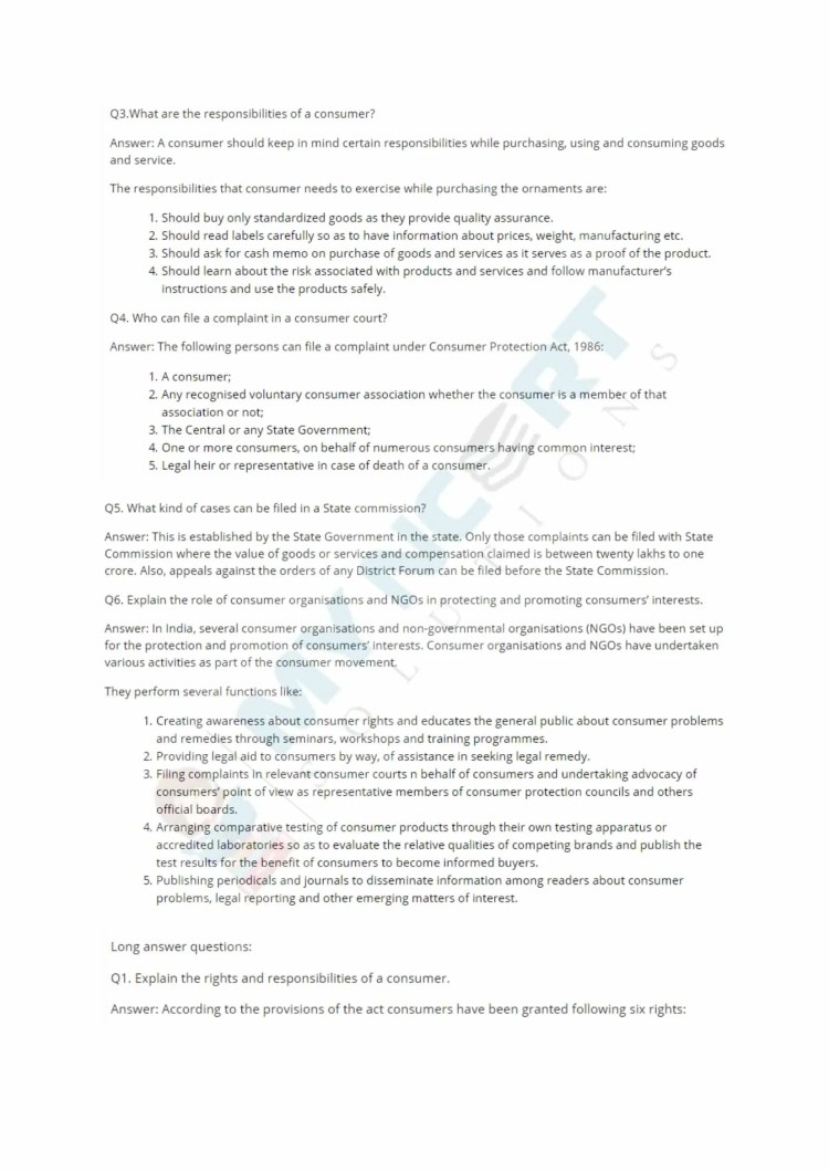 ncert solutions class 12 business studies chapter 12 consumer protection 2