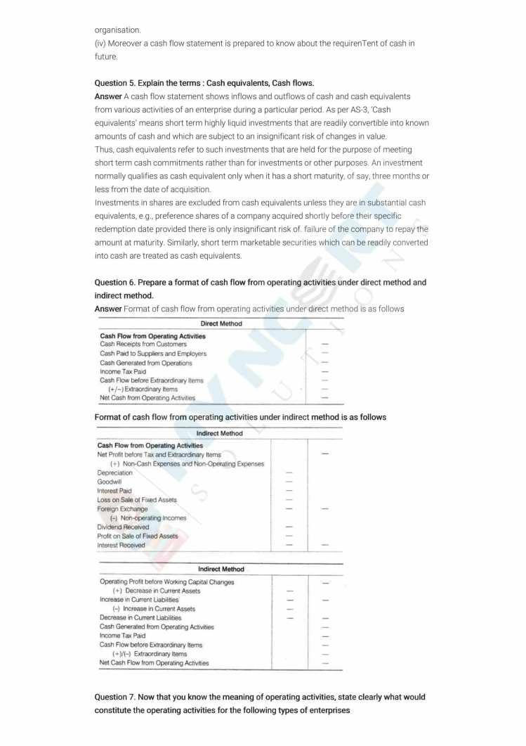 ncert solutions class 12 accountancy part 2 chapter 6 cash flow statement 07