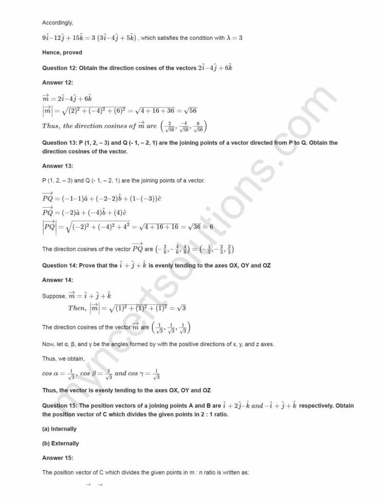 NCERT Solutions For Class 12 Maths Chapter 10 Ex 10.2