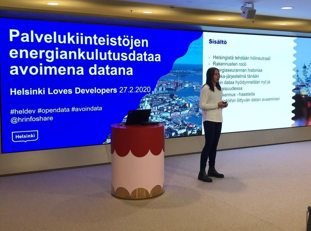 Helsingfors stad öppnar sin energidata från offentliga byggnader till applikationsutvecklare, för att bli en koldioxidneutral stad 1