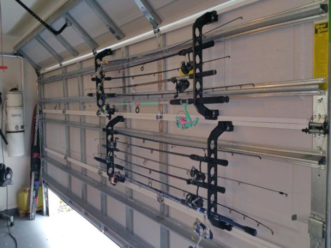Fishing Pole Holder For Garage Door The Best Fish 2018