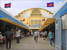 Central market de phnom penh au Cambodge