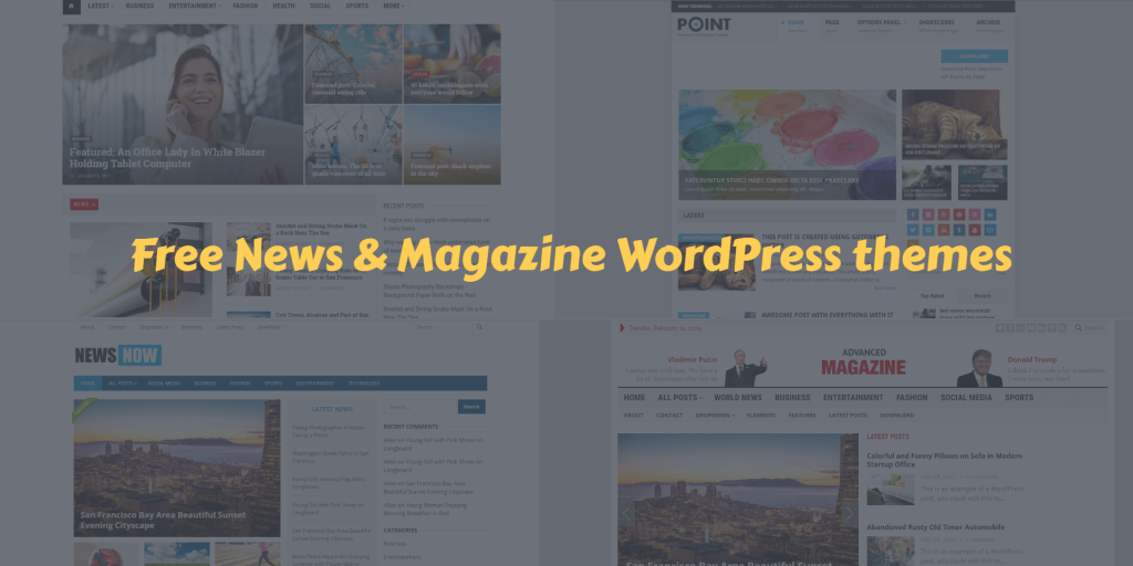 Free News & Magazine WordPress themes