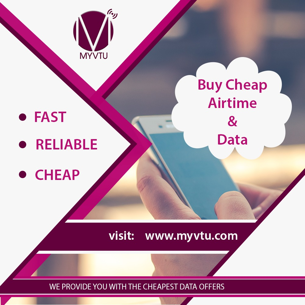 Buy cheap airtime and data on myvtu.com