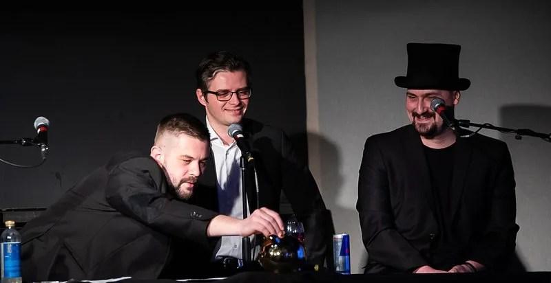 Joe Trendy, Matej Adámy a Dano Čistý na poslednom živom Bratislavskom Kaviári pred pandémiou. | foto Karol Václavík