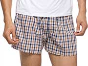 Man wearing boxer shorts