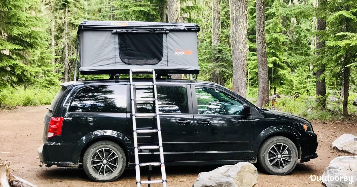2015 dodge caravan with roof tent
