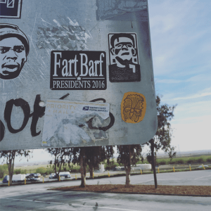 fart, barf political decal
