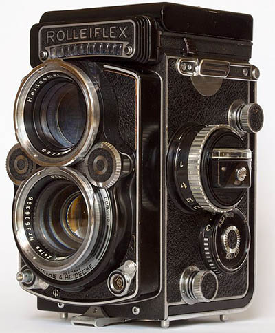 Rollieflex twin lens reflex camera
