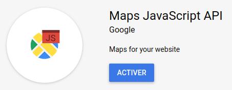 Google place autocomplete : Activer Maps Javascript API