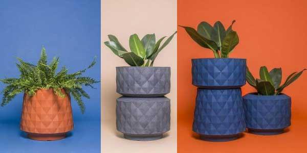 Vasos com design sustentável da MUMA