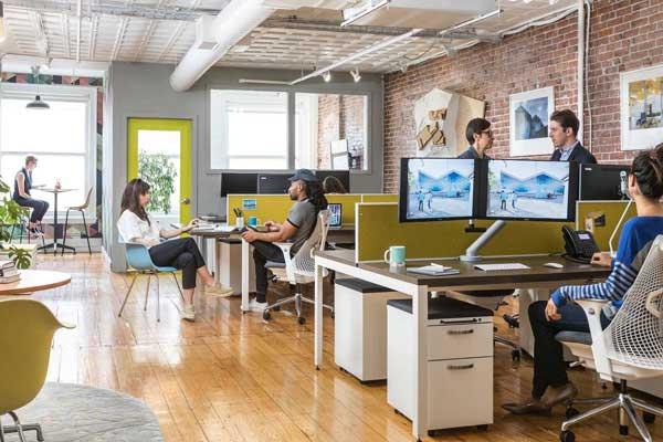 Trabalho em escritórios abertos