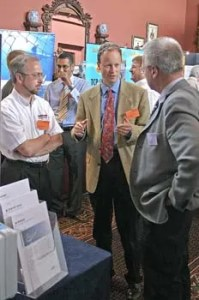 Deep in discussion at the PROFIBUS Conference