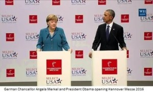Obama and Merkel at hannover messe - photo courtesy of LNS Research