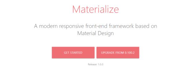 Matérialiser le framework CSS