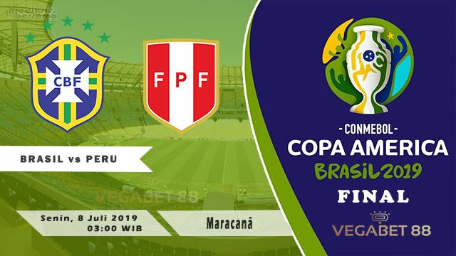 Prediksi Brasil vs Peru - Final Copa America, 8 Juli 2019