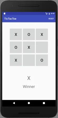Juego del 3 en raya, en Android