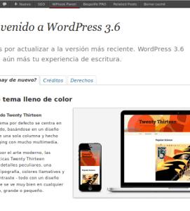 Actualiza WordPress 3.6 Oscar
