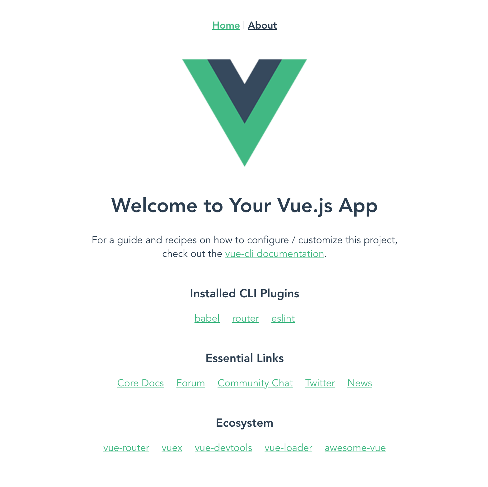 vue application