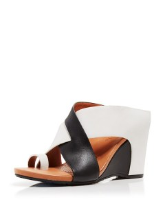 Black & White Gentle Souls Wedge Mule Sandals - Indigo $195.00 on Bloomnigdales.com