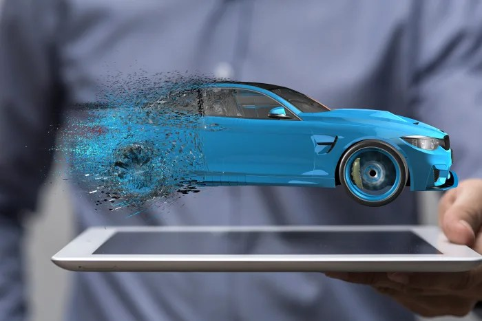 Graphic representing car dealer photography technology