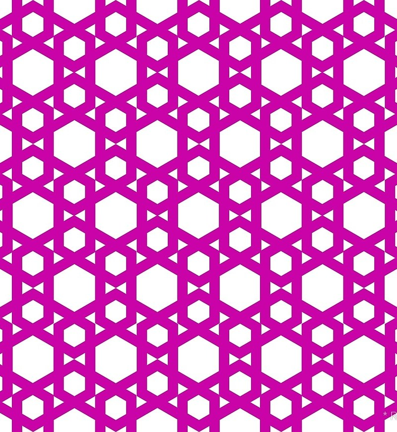 Geometric Pattern: Hexagon / Red Wolf