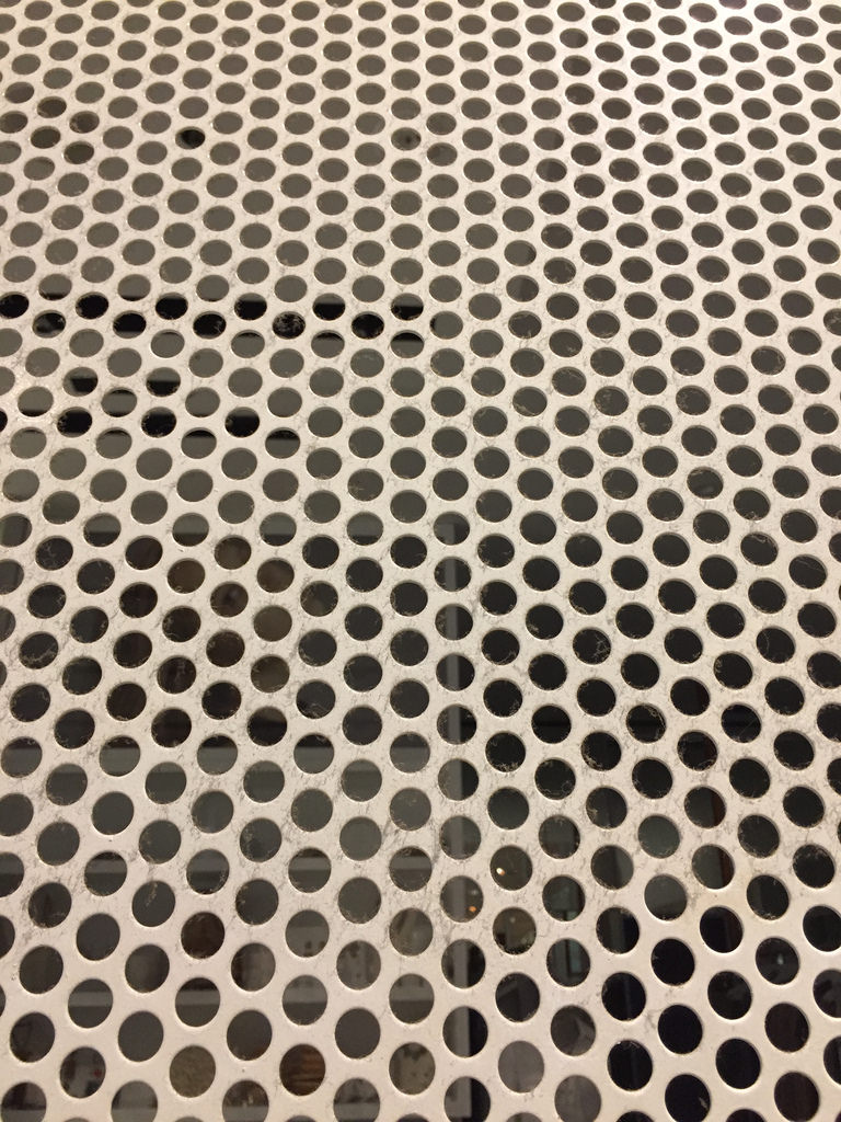 Perforated Metal Screen / Red Wolf