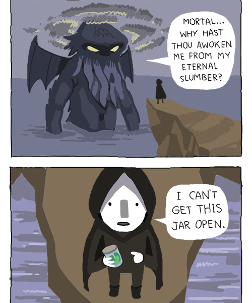The might of Cthulhu / Owlturd Comix