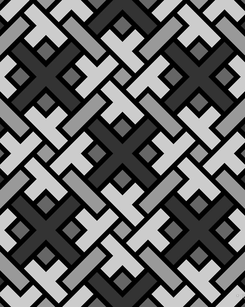 Geometric Pattern: Weave / Red Wolf