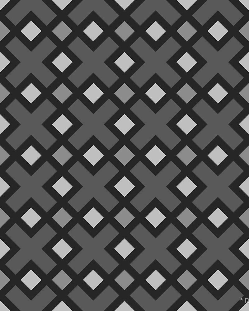 Geometric Pattern: Weave / Red Wolf