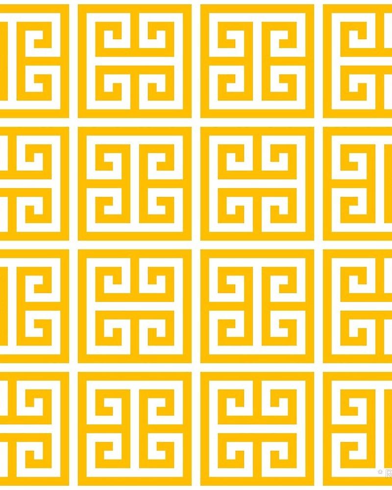 Geometric Pattern: Key Bridge Alternate / Red Wolf