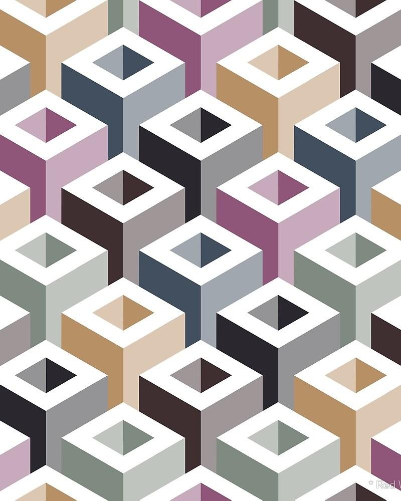 Geometric Pattern: Tube / Red Wolf