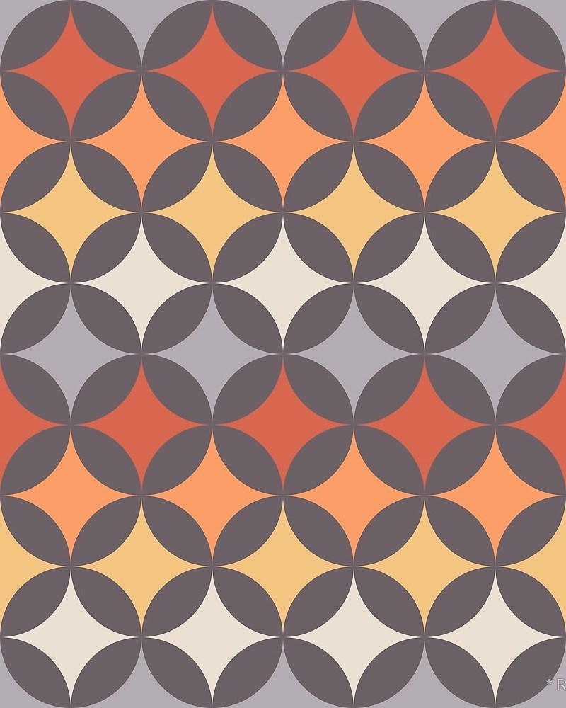 Geometric Pattern: Circle Nested / Red Wolf