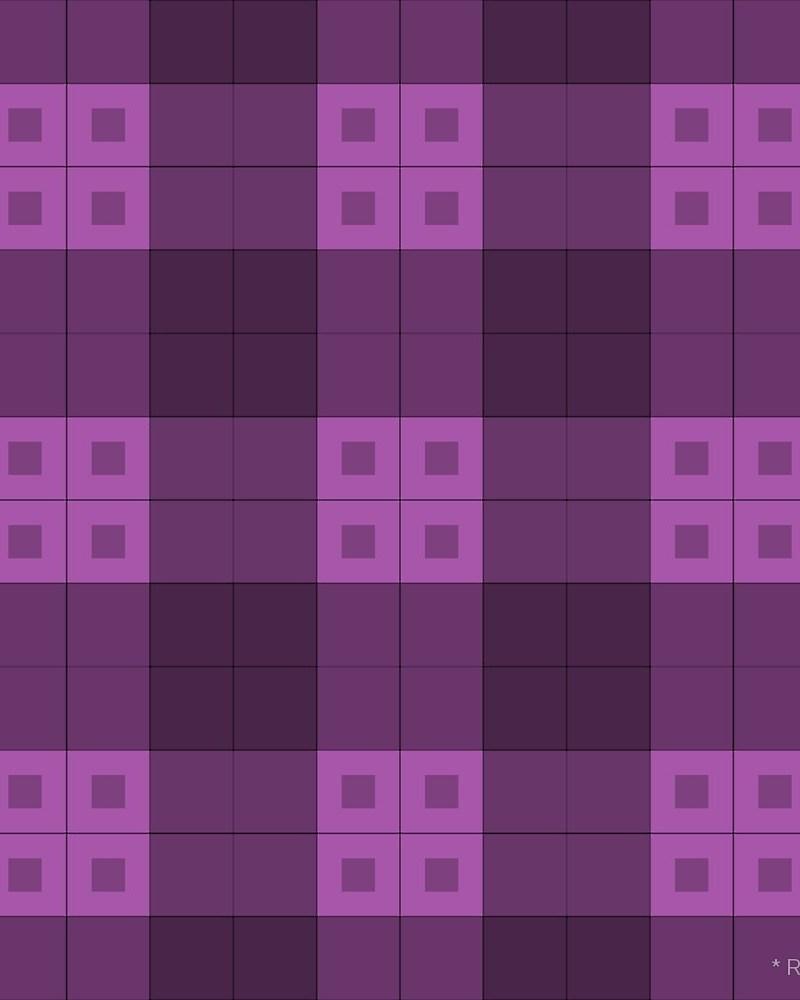 Geometric Pattern: Button Weave: Dark / Red Wolf
