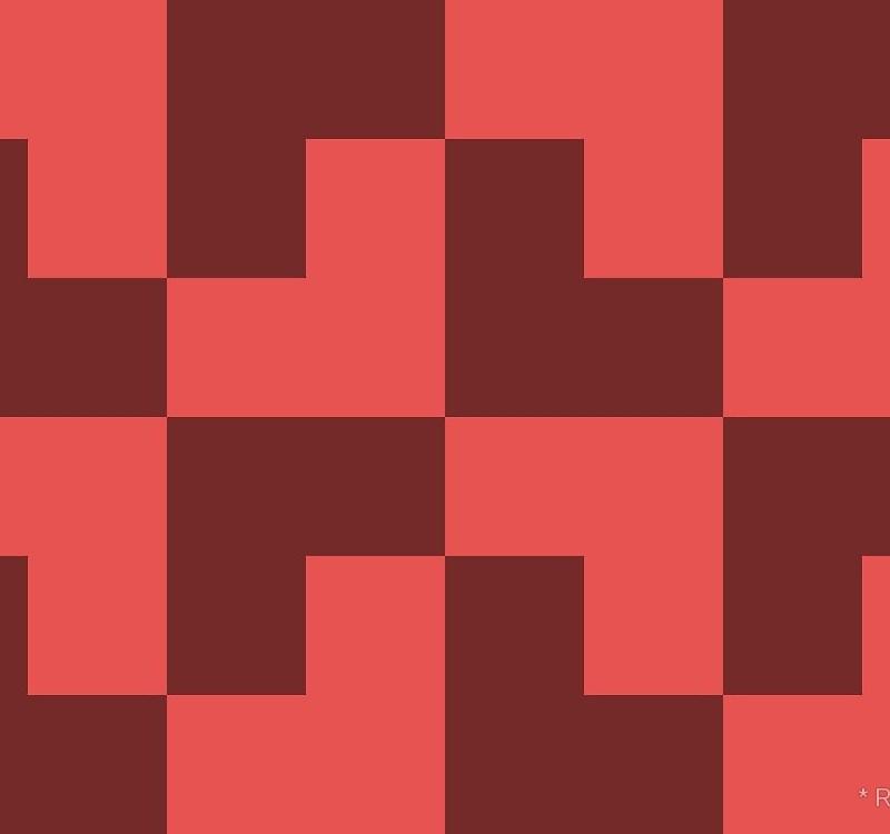 Geometric Pattern: Tetris Ell: Dark / Red Wolf
