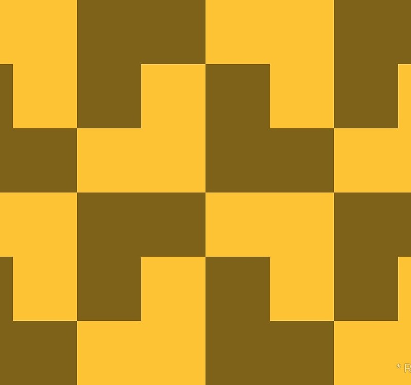 Geometric Pattern: Tetris Ell: Dark / Red Wolf