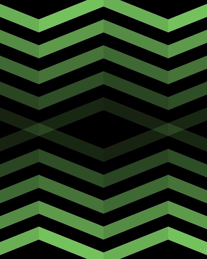 Geometric Pattern: Chevron Cascade: Dark / Red Wolf