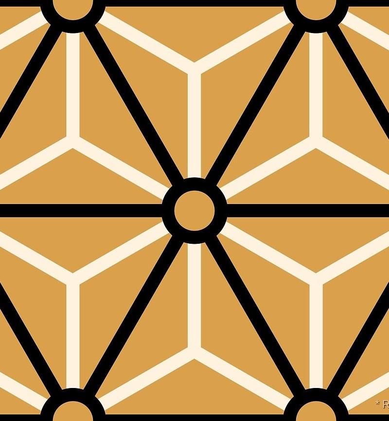 Geometric Pattern: Art Deco Star: Classic / Red Wolf