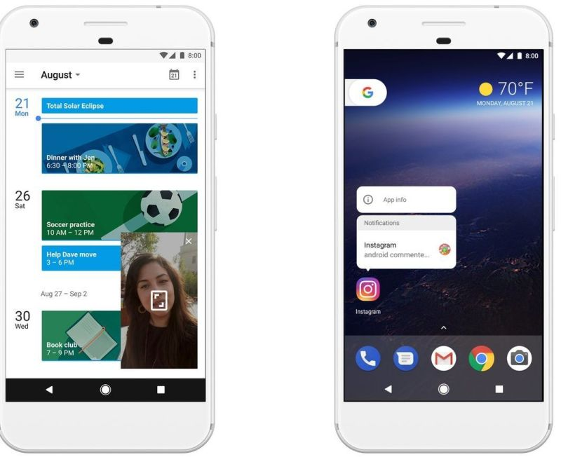 Android 8.0 Oreo: Picture-in-picture, Notification dots