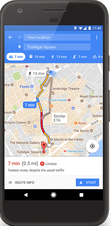 New Google Maps Parking Difficulty Icons