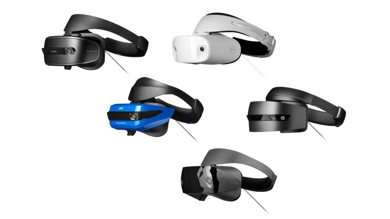 Windows Mixed Reality headsets from Acer, Dell, HP, and Lenovo
