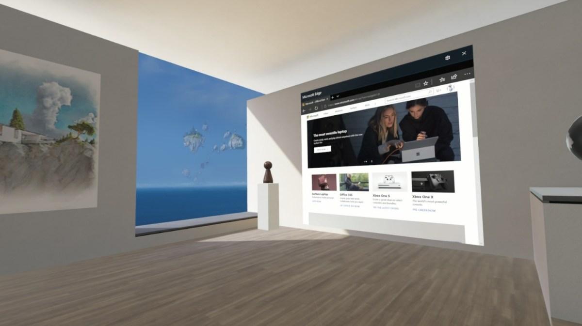 WebVR experience in Microsoft Edge