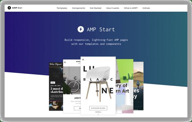 AMP Start Templates Hero