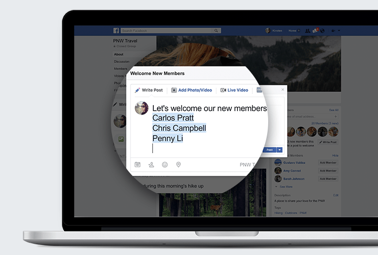 Facebook Group Member Welcome Post